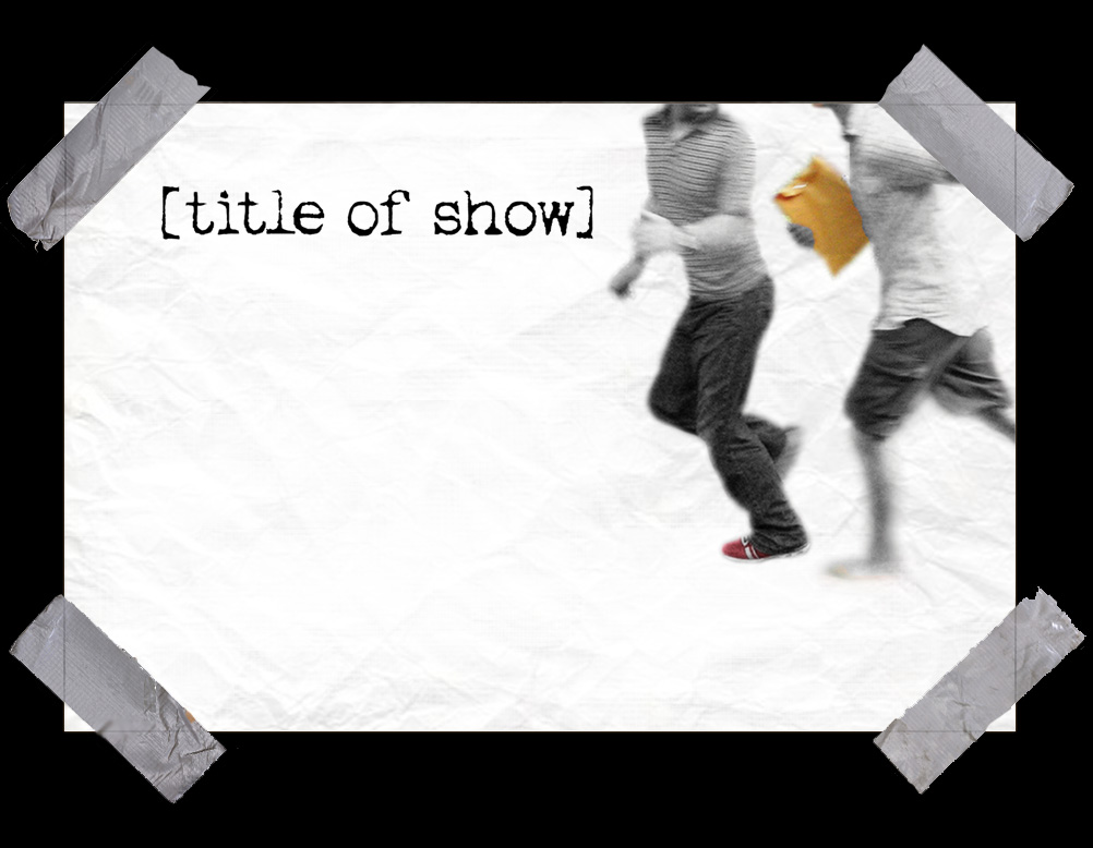 Image result for title of show